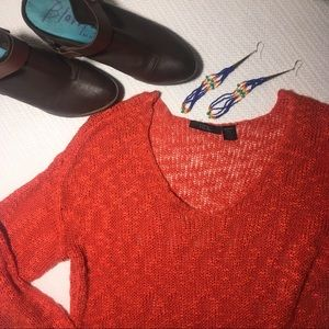 Orange Airy Sweater, great for layering